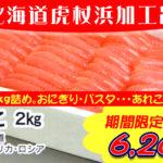 [mo-96]たらこ2kg詰め大容量パック(虎杖浜加工)